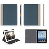 MACALLY Slim Folio Case For Apple iPad (3rd Generation) [MCLSLIMCASE3BL] - Blue - Casing Tablet / Case